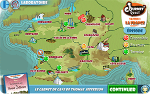 adventure video game on the theme of French gastronomy