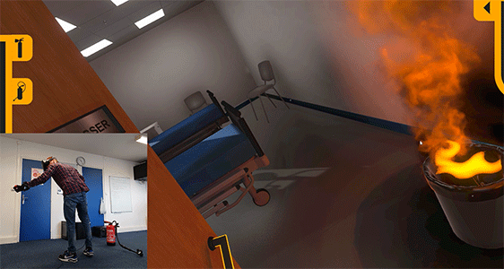 Fire simulation in mixed reality