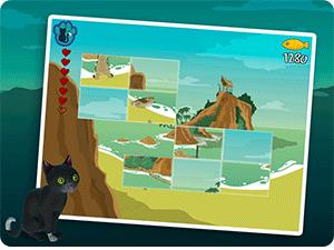 Jeu vidéo de type puzzle game pour enfant