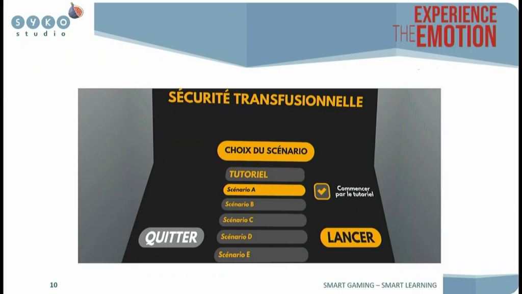 scenarios securité transfusionnelle